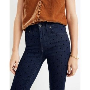Madewell High Rise Skinny Jeans: Flocked Dots